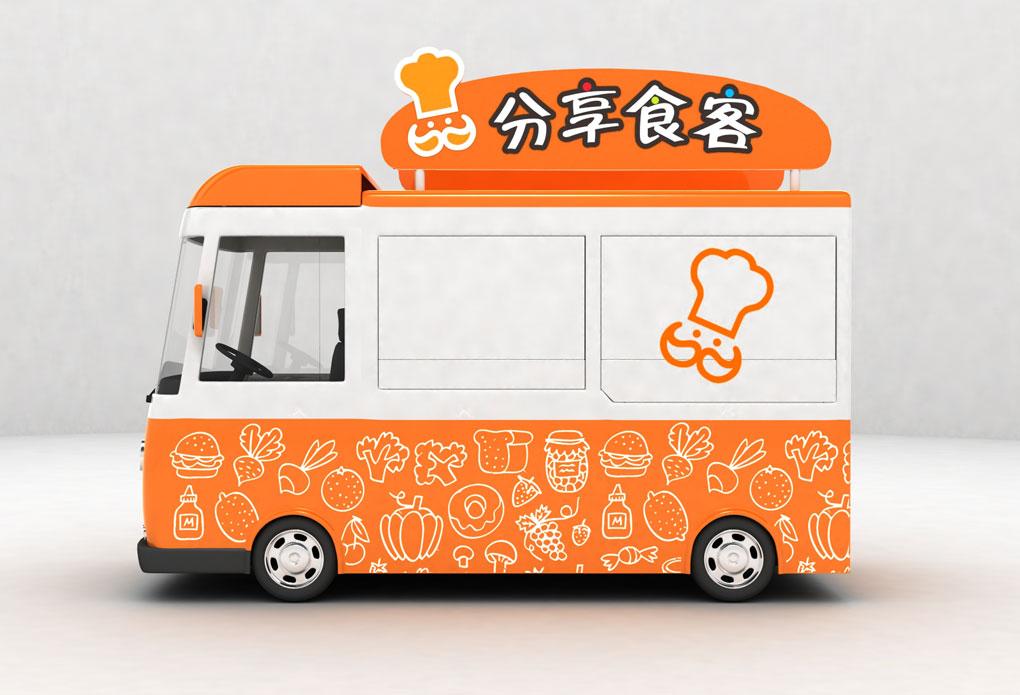 卡通餐车外观设计图片
